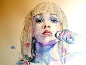 Chandelier Girl by lefemmeartiste