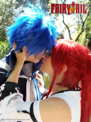 Erza and Gerald - Almost a kiss by onlycyn