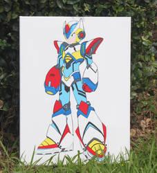 Painting of Megaman X2 Giga Armor-Ver.Ke by GamerLifeArt