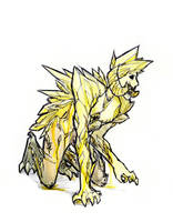 Corrupted Yellow Diamond by LittleSnaketail