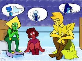 Blue friends by LittleSnaketail