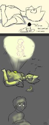 Steven teaches Yellow Diamond to sleep by LittleSnaketail