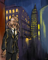 Dalek in New York by LittleSnaketail