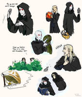 Doodles related to but not including Harry Potter by LittleSnaketail