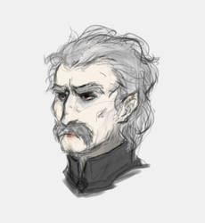 Dracula sketch by LittleSnaketail