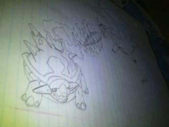 Pokemon - TorterraVsSalamence WIP by NezuKunoichi