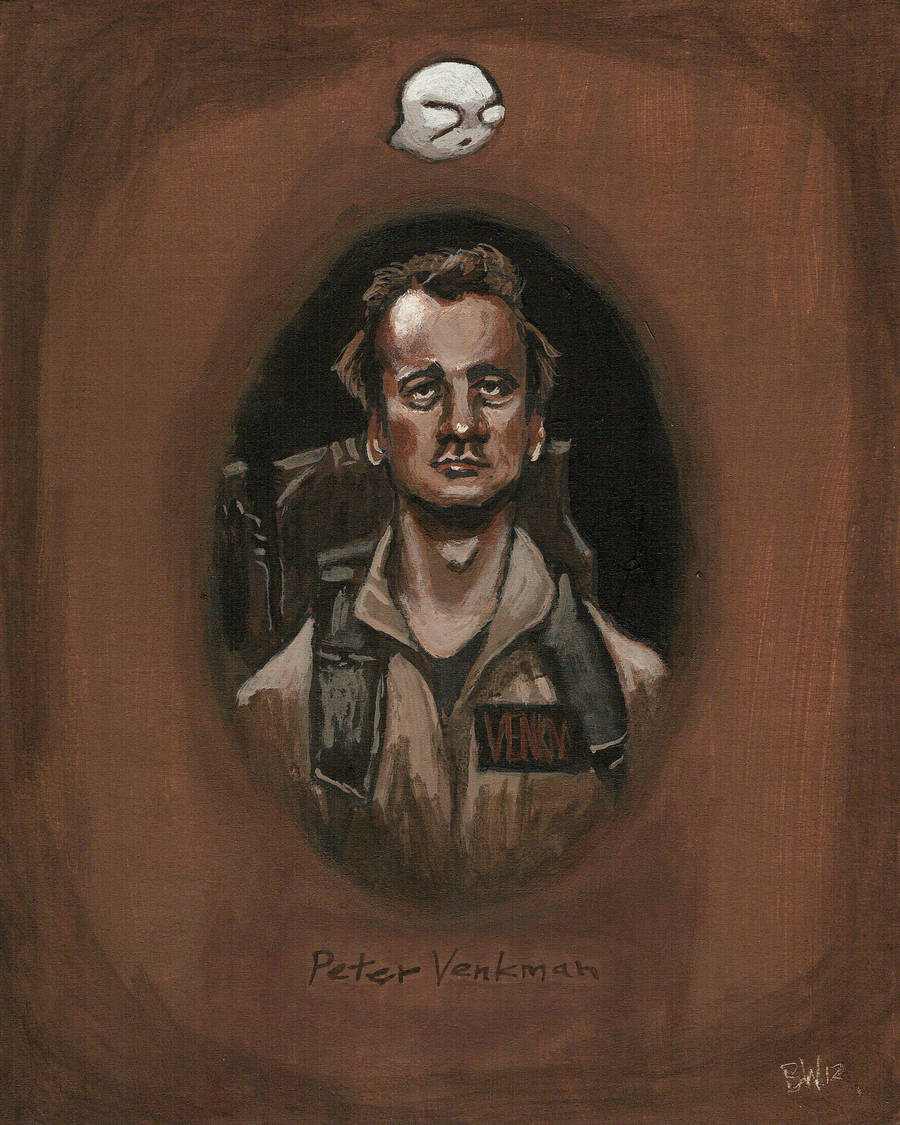 Haunted portrait of Peter Venkman by Bewheel