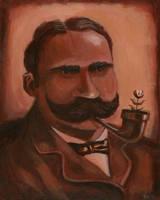 Ye Olde Portrait of Mario w/pipe by Bewheel