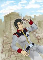 Gundam Anyone? (New Commish, WIP) by Eh-Lora