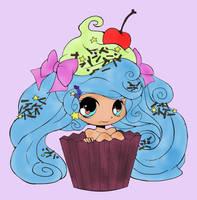 Cupcake Girl (Colored) by SkekMara