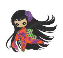 Little Japanese Girl... (colored) by SkekMara