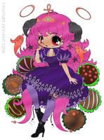 Truffle Girl Hazukia (colored) by SkekMara