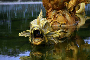 LS statue fish versailles by lounalovegood-stock