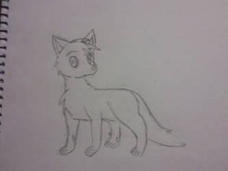 cartoon fox sketch by 101foxtrot