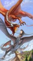 Battle dragons by Renelana