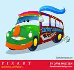Pixart Electric Mayhem Bus by dhulteen