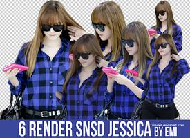 6 Renders SNSD Jessica@Emiyeol by Emiyeol