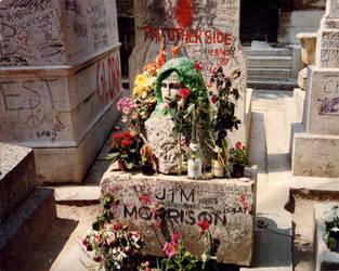 Jim Morrison's grave 1987-8 by CameronBentley