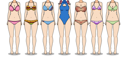 DR and SDR2 Oc: Swimsuit by LadyAirin2015