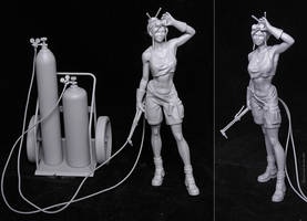 Welder Girl - 3D Print by JoseAlvesSilva