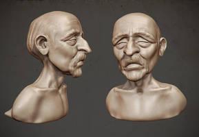 Old man - 3D sketch by JoseAlvesSilva