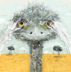 ostrich by smokepaint