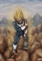091014 Wounded Vegeta - Dragon Ball Z by saiyanhajime