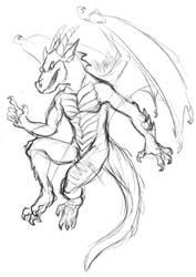 061215 Dragon by saiyanhajime