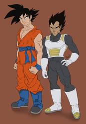 200316 Goku and Vegeta - Dragon Ball Super by saiyanhajime