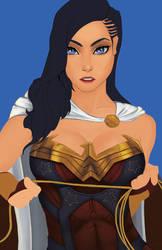 Wonder Woman WIP by 7caco