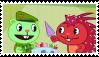 Happy Tree Friends: Flippy X Flaky (Stamp) by ADDICTEDTOSANDWICHES
