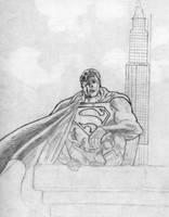 'Superman.' Unfinished. by mysticmadman