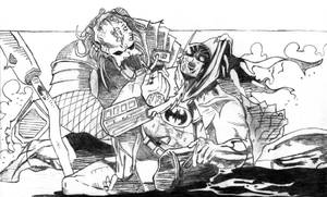 'Batman vs Predator.' by mysticmadman