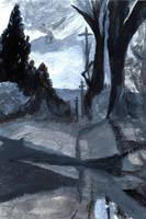 'Road.' Monochrome. by mysticmadman