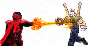 'Aced Out Fireblasts Stunner Freak.' by mysticmadman