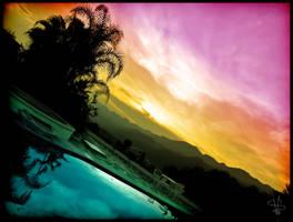 The Setting Colors by SimonVelazquezArt