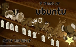 5 Years of Ubuntu by doctormo