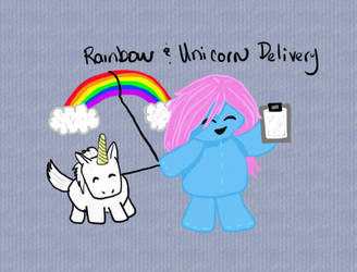 Rainbow and Unicorn Delivery by Rei2jewels