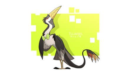 Bird with Bowtie by flluksel