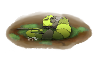 Dreaming Mossy Creature by flluksel