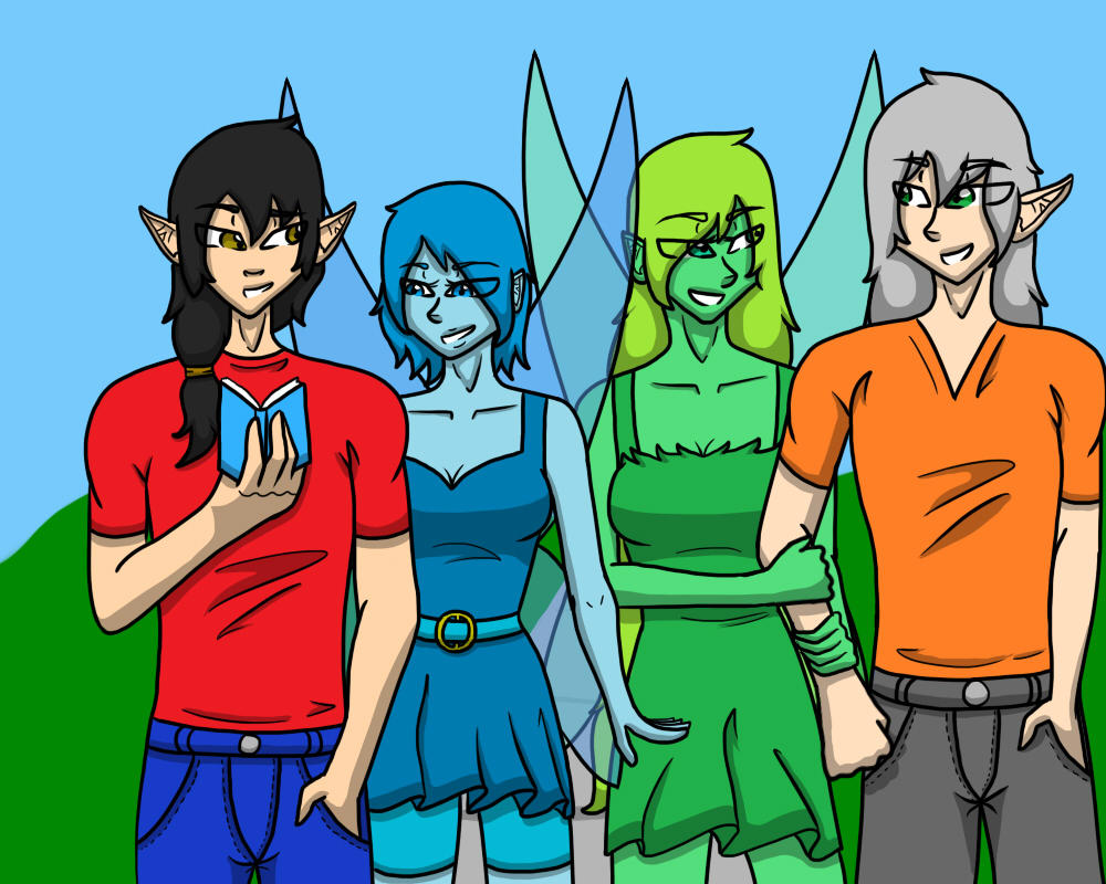 The necklace characters redrawn by ShazelFable