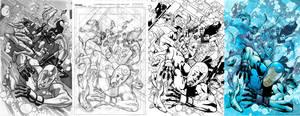 Dynamo 5 - 12 Cover Process by MahmudAsrar