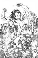 She-Hulk Smash by MahmudAsrar