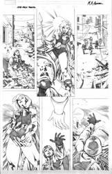 She-Hulk Cosmic Collision - P4 by MahmudAsrar