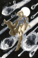 Supergirl 1 Cover BW by MahmudAsrar
