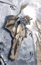 Supergirl 6 Cover BW by MahmudAsrar