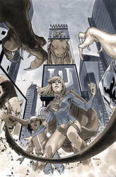 Supergirl 7 Cover BW by MahmudAsrar