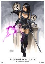 Steampunk Psylocke Print by MahmudAsrar