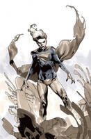 Supergirl 18 Cover BW by MahmudAsrar
