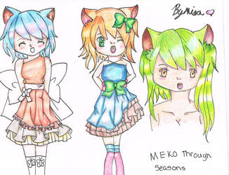 Meko Through Seasons WIP by Misha444